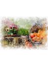 제비꽃 수채화 페인팅