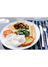 영국식 아침식사(소시지와 베이컨) 이미지