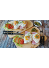 아침식사 토마토 양배추 달걀 샌드위치 이미지