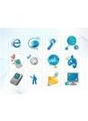 파워포인트 클립아트 e-비즈니스, 휴대폰, 지구본, 안테나