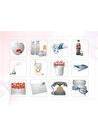 파워포인트 클립아트 화장품, 약품, 콜라, 전화기, 안경