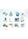 파워포인트 클립아트 핸드폰, MP3, 사진기, 오디오