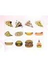 파워포인트 클립아트 피자, 핫도그, 햄버거, 빵