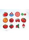 파워포인트 클립아트 토마토, 딸기, 귤, 배