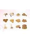 파워포인트 클립아트 쿠키, 과자, 햄버거, 과일, 주스