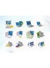파워포인트 클립아트 컴퓨터, 노트북, 본체, 프린트