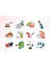 파워포인트 클립아트 조각케익, 저울, 엔터키, 우산