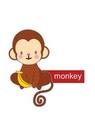GII0090_08 스티커아이콘원숭이