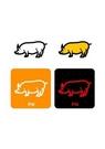 GII0119_09 픽토그램아이콘돼지 - 동물식물 이미지