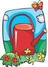 물뿌리개,원예,정원용품,물조리개,나비,꽃,화단