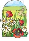꽃밭 - 동물식물 이미지