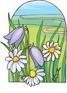 꽃밭,오솔길,전원,자연 - 동물식물 이미지