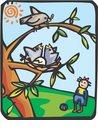 나뭇잎,나뭇가지,해,태양,사람,먹이,모성,새,새둥지,새끼