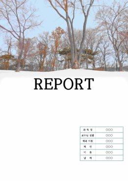 (태믹스)리포트 표지 속지 겨울풍경(눈)