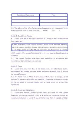 해외 임대차계약서(영문) page 3