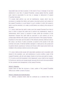 해외 임대차계약서(영문) page 4