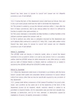 해외 임대차계약서(영문) page 6