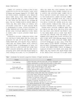 해외 지속가능한 식생활교육의 학교급별 사례 분석과 방향탐색 page 4